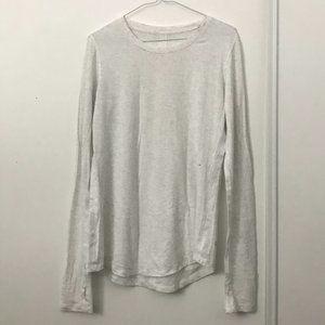 Lululemon Light Gray Long Sleeve Shirt